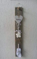 Baby zeepketting op hout.